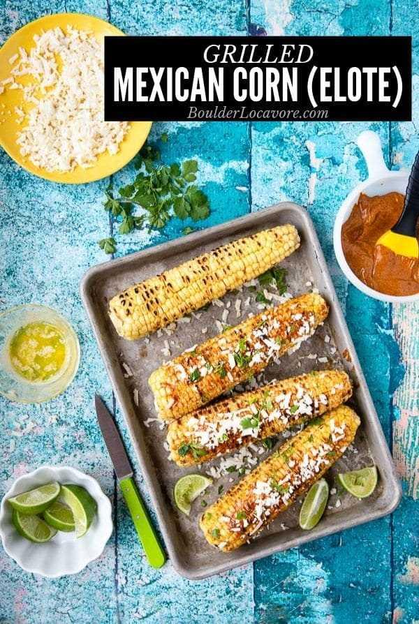 Imagen de título de Elote de maíz mexicano a la parrilla