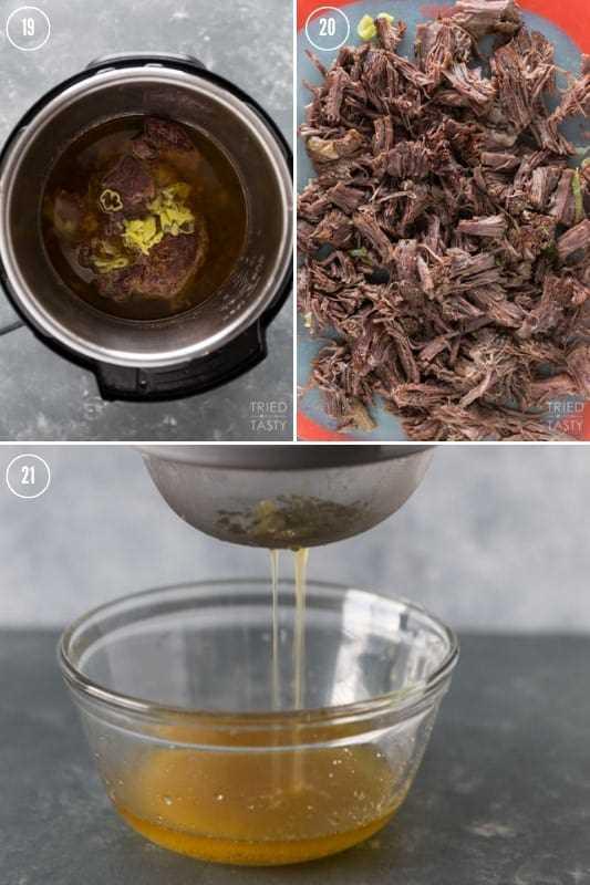 Colagem de como fazer uma panela assada no pote instantâneo