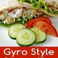 Gyros Style Chicken Pitas para dos