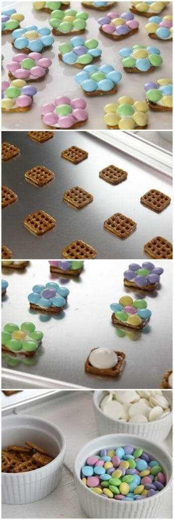 Bocados de pretzel de flores de primavera: el dulce y salado perfecto de primavera y Pascua