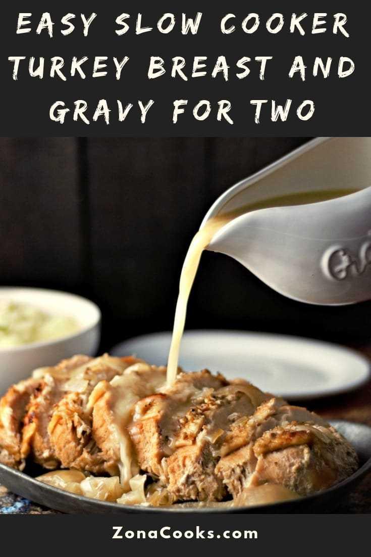 Fácil receita de jantar de peito de peru e molho de peru fácil para dois
