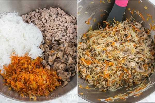 Rolinhos de ovo de porco e cogumelos-7