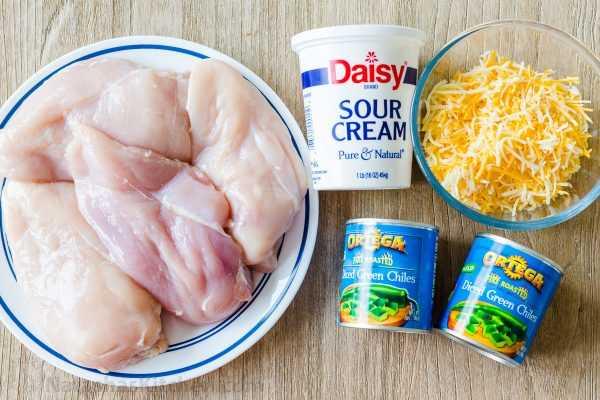 Ingredientes para caçarola de frango