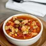 Receta instantánea de sopa de pollo y verduras