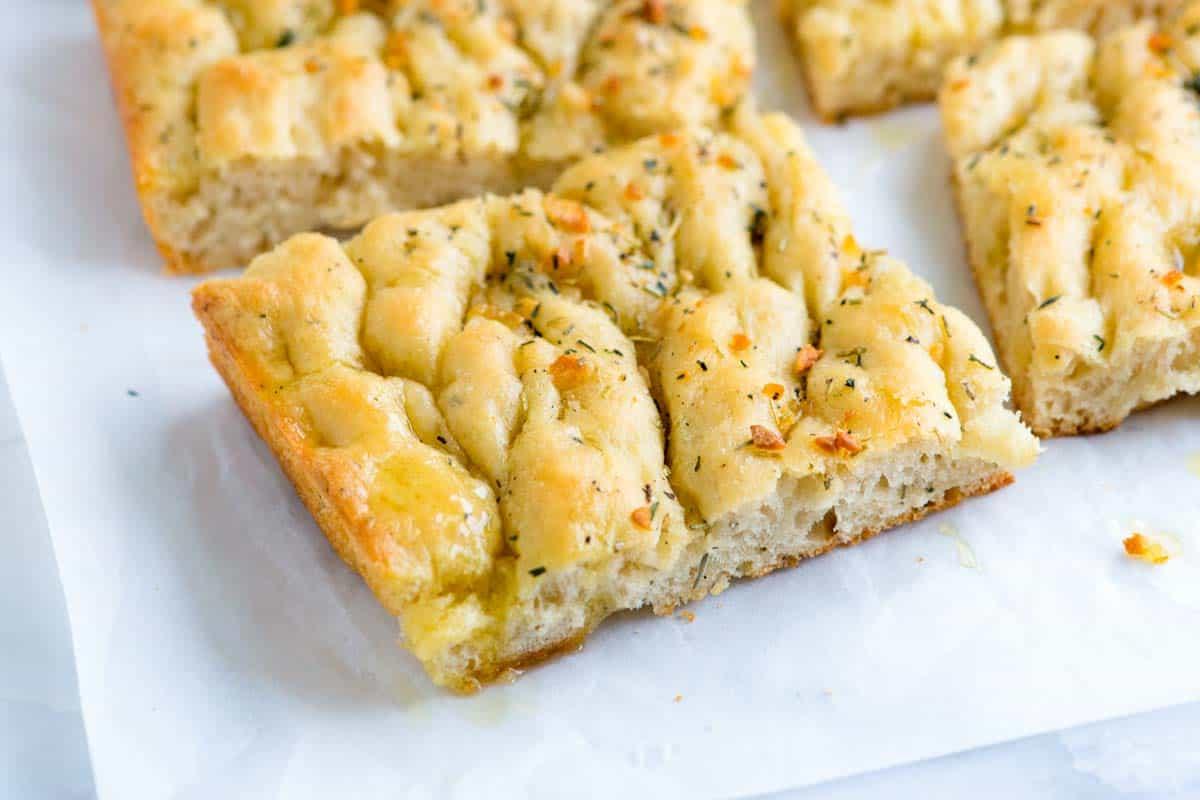 Receta fácil de pan de focaccia