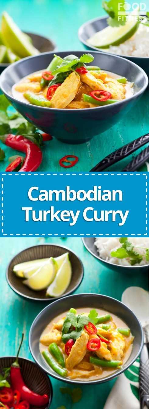 Receta de curry de pavo camboyano | #turkeyrecipe #cambodianfood #yum