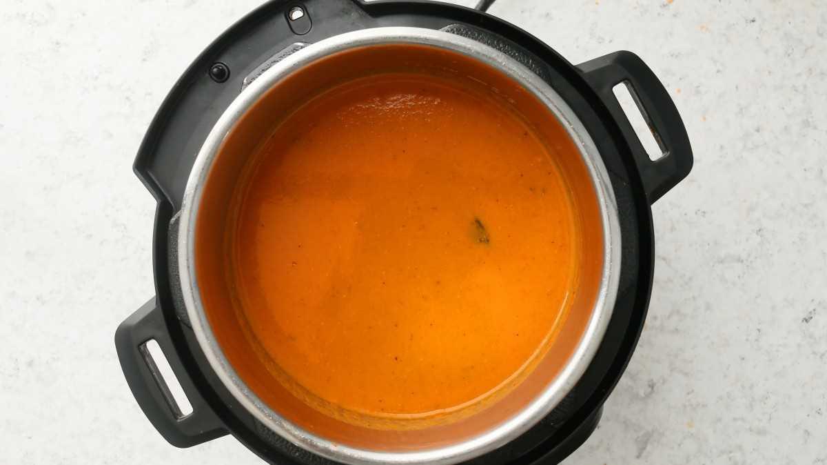 crema de tomate instantánea