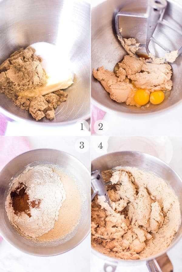 Receta Snickerdoodles pasos collage de fotos 1