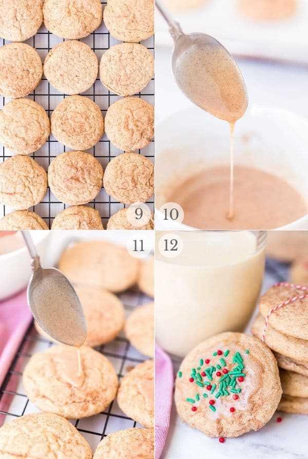 Snickerdoodles receta pasos collage de fotos 3