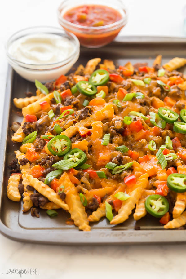 nacho papas fritas de cerca
