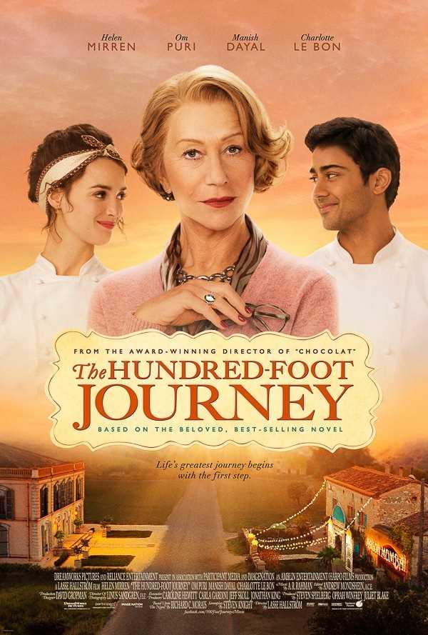 El póster de la película El viaje de los cien pies - Dreamworks