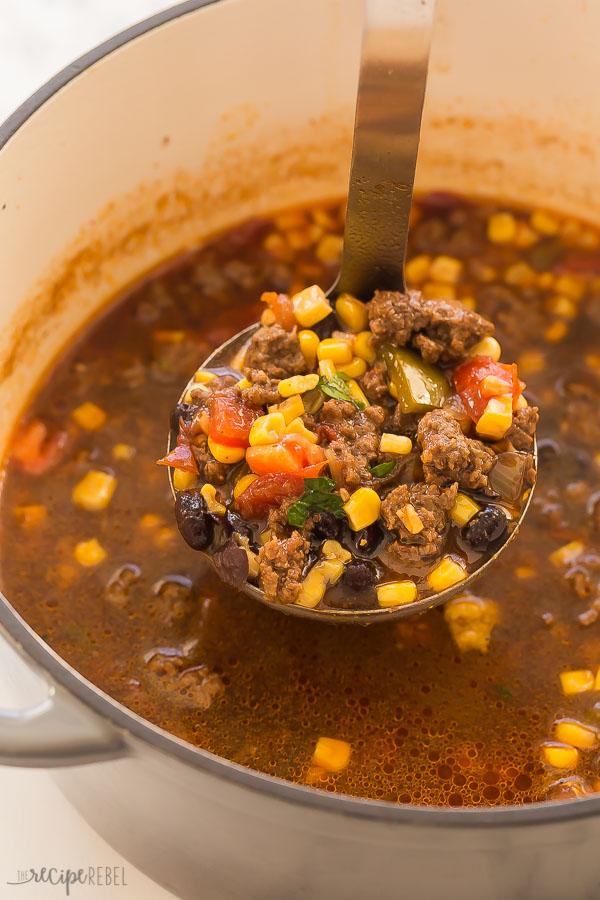 sopa de taco en maceta