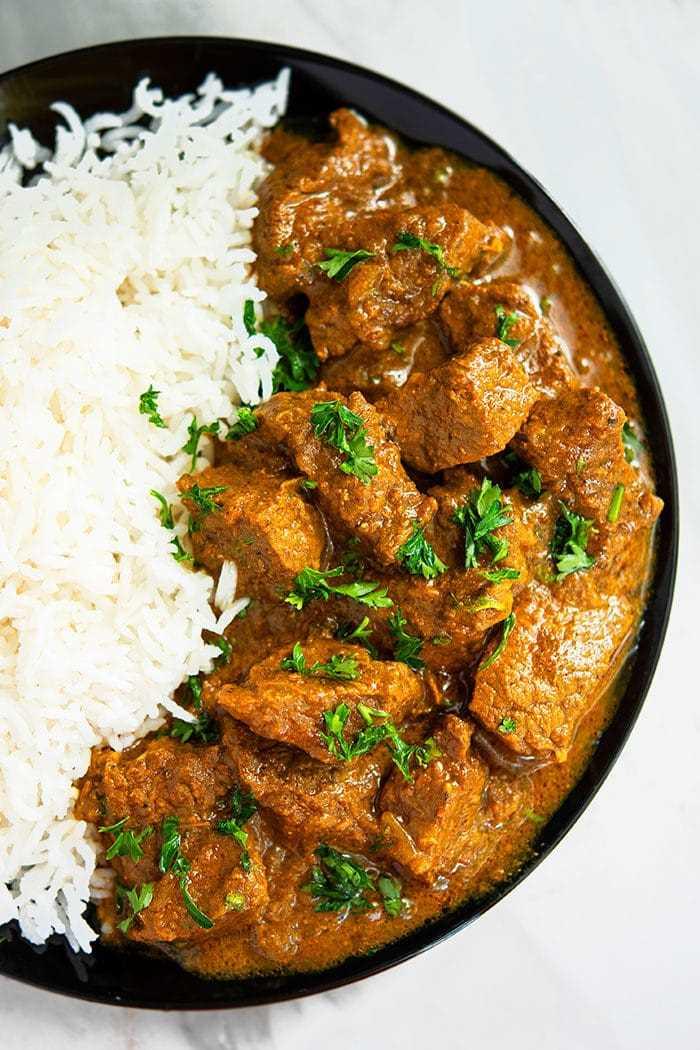 Receta casera de carne al curry