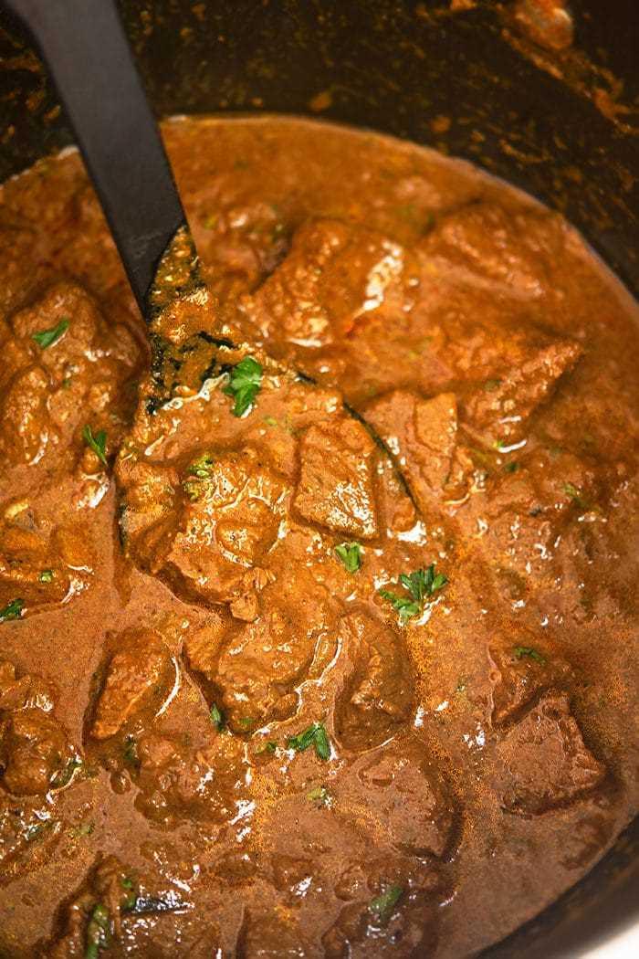 Curry de ternera indio