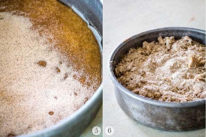 pastel de plátano café receta pasos collage de fotos 2