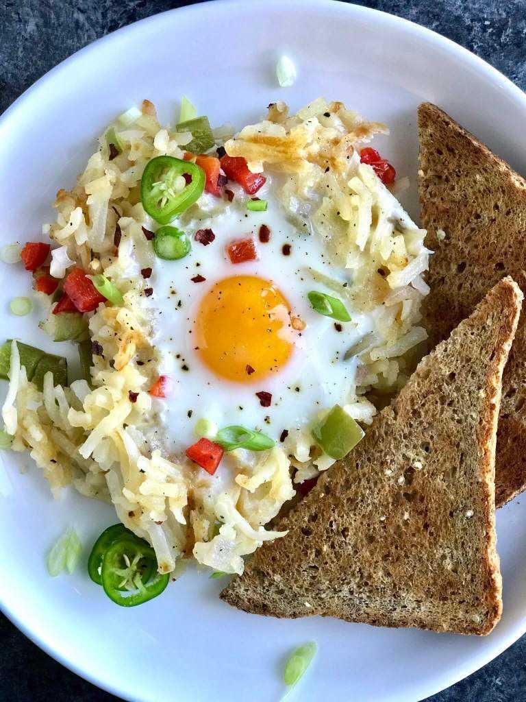 Hashbrown Veggie con Huevos