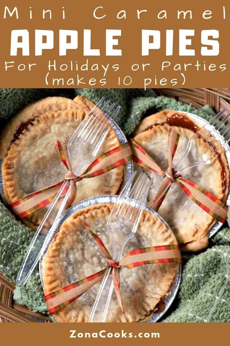 Receta de mini empanadas de manzana y caramelo para fiestas o fiestas