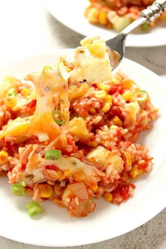 arroz com queijo 2 Arroz com molho de queijo com abobrinha e receita de milho