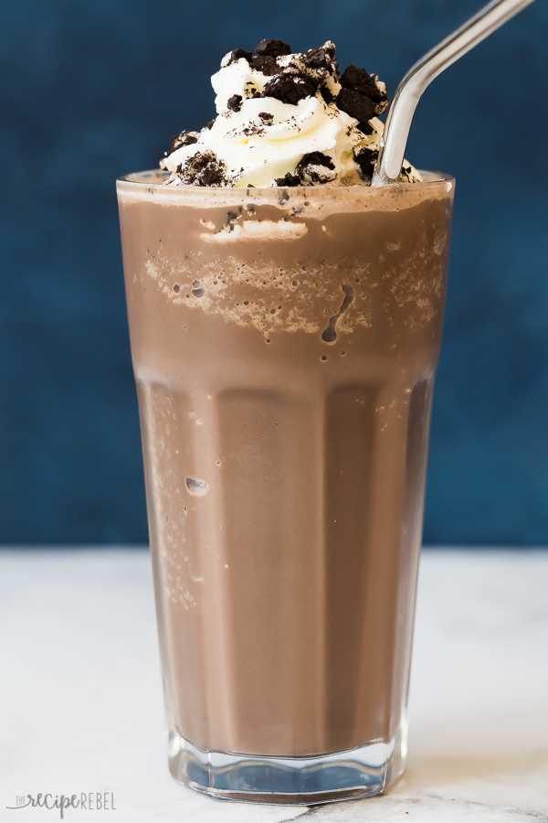 Chocolate caliente congelado Oreo