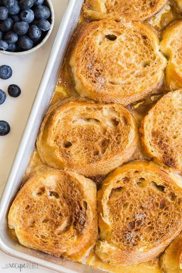 tostadas francesas al horno