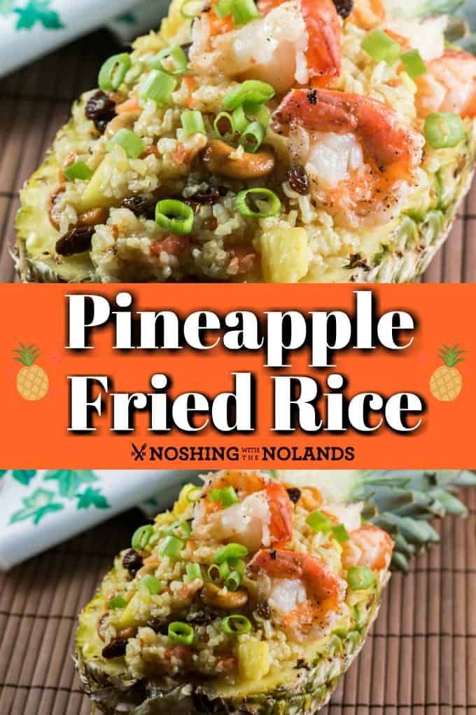 Pineapple fried rice can be served in a pineapple to make an elegant dish to entertain family and friends. It's an amazing selection of flavors to tempt your taste buds! # pineapple # fried rice # curry