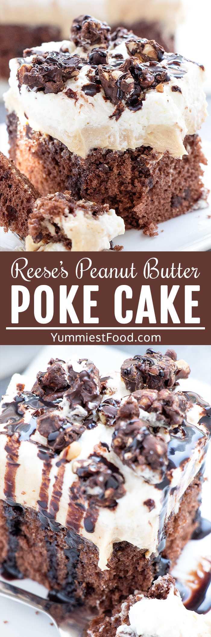 El pastel Poke Butter Poke de Reese es un postre fácil de verano perfecto para fiestas y comidas