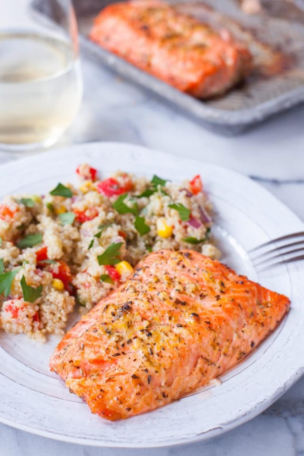 Salmon with pepper and lemon recipe