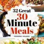 32 excelentes comidas de 30 minutos