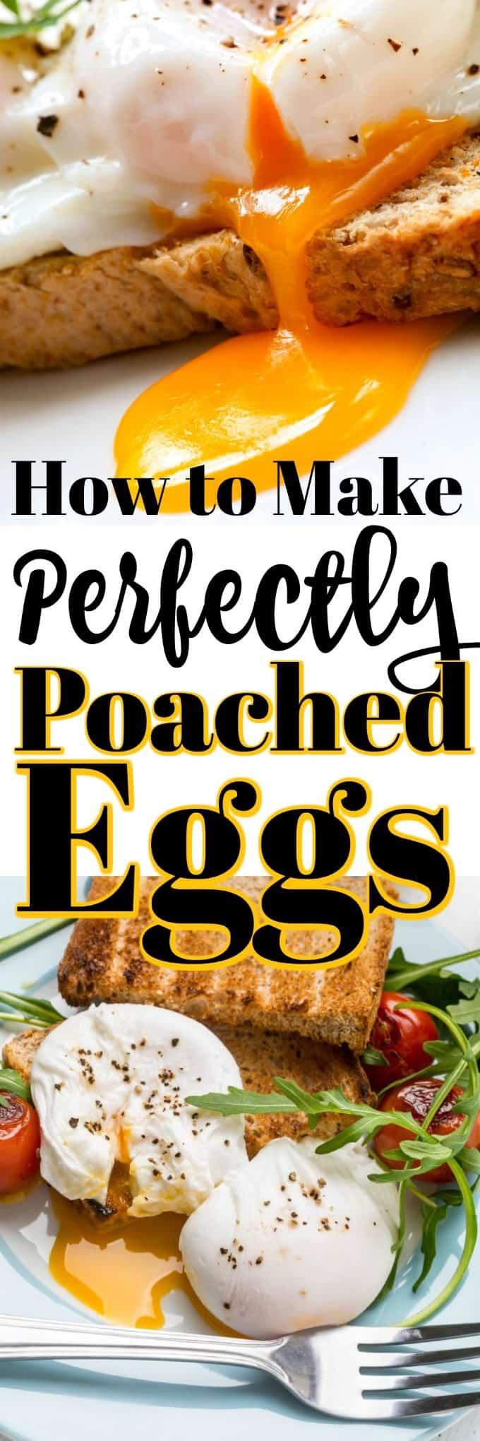 Cómo hacer huevos escalfados perfectamente es más fácil de lo que piensas. ¡Su riqueza agrega mucho a un desayuno simple a un elaborado Benedict de huevos! #poachedeggs #howto #eggs #breakfast #brunch
