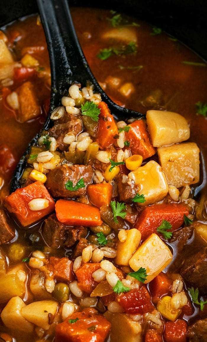 Sopa de cebada y verduras