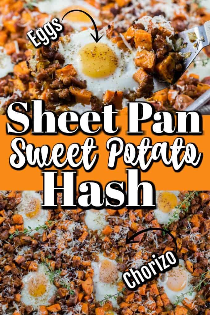 ¡El sartén de patata dulce con huevos y salchichas será su número uno para cenar! #eggs #WorldEggDay #ad