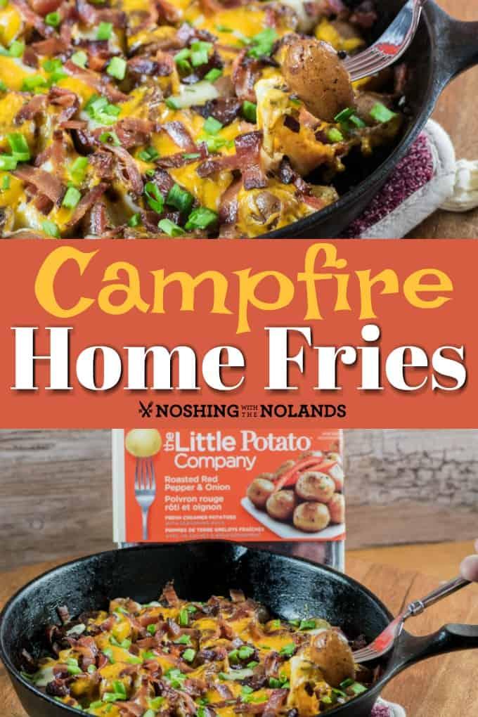 ¡Estas papas fritas caseras Little Potato Campfire {Grill} son la comida perfecta para el verano preparada en el fuego abierto o en la barbacoa! #campfire #homefries #hashbrowns #Littlepotatoes