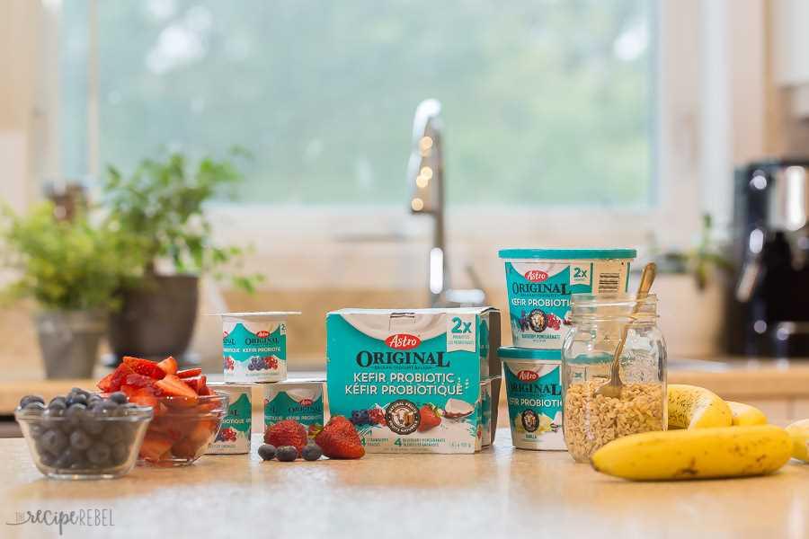 astro original kéfir probiótico yogurt