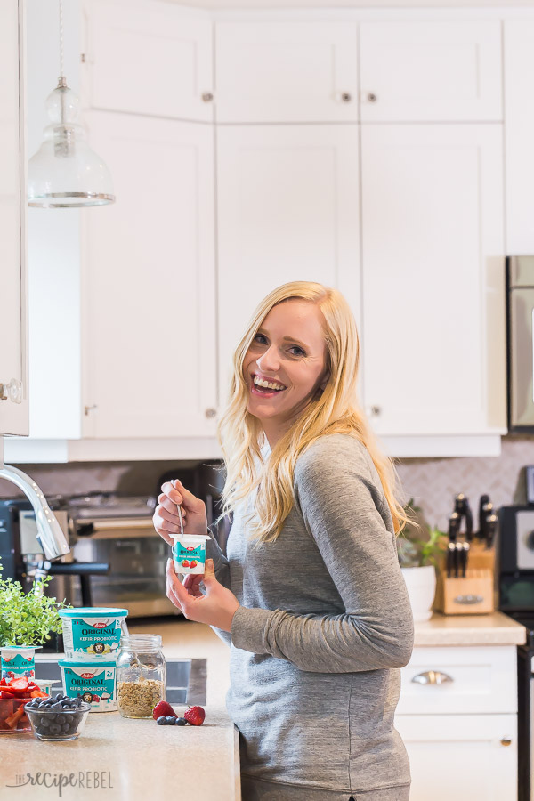 Ashley con yogur de kéfir