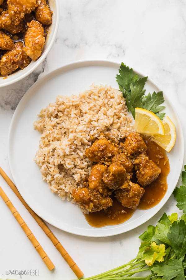 miel limón pollo y arroz