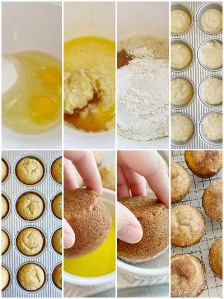 Los muffins de plátano son suaves, horneados perfectamente redondos y cubiertos con canela y azúcar. Un tazón es todo lo que necesitas para hacer las mejores magdalenas de pan de plátano. No se necesita mezclador!