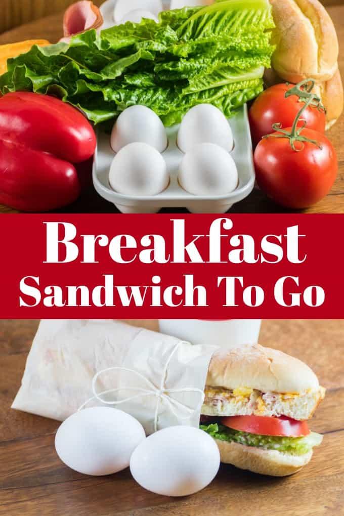¡Breakfast Sandwich To Go te permitirá comenzar bien el día! #WorldEggDay #breakfastsandwich #breakfast #makeahead