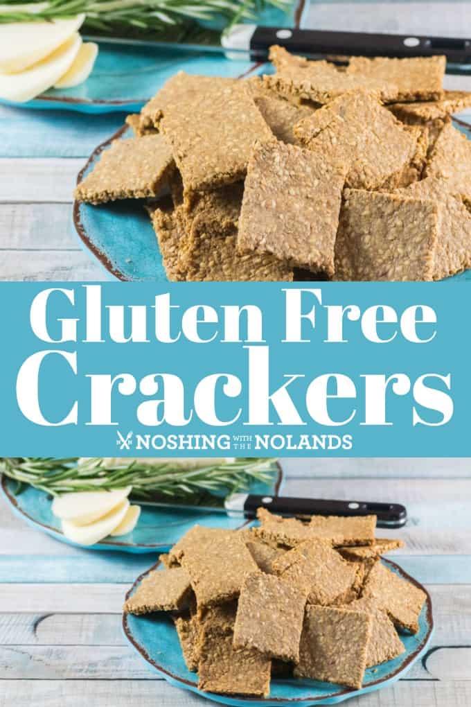 ¡Esta receta de galletas sin gluten será muy útil ya que es muy fácil de hacer y solo requiere cuatro ingredientes! #glutenfree #crackers #sunflowerseeds #sesameseeds