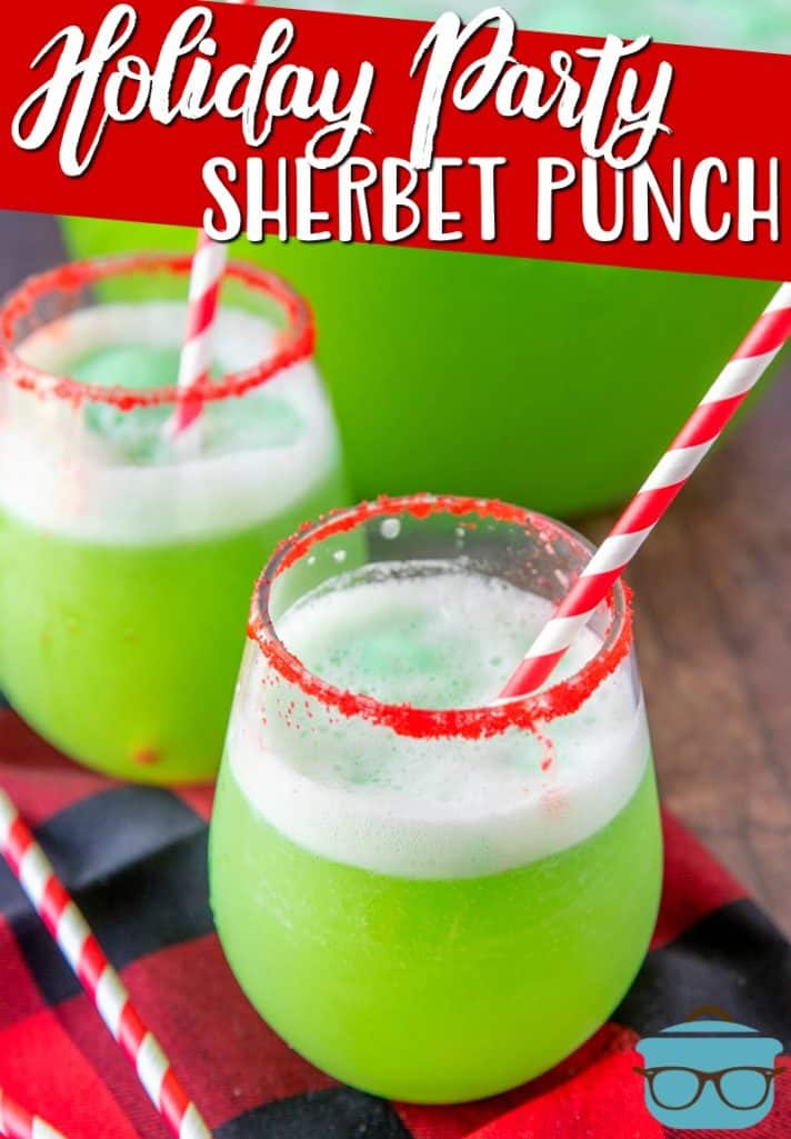 Holiday Party Sherbet Punch receta de The Country Cook