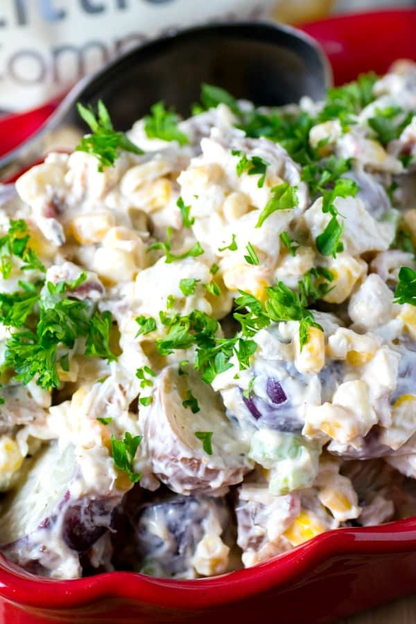 Boiled Potato Crab Salad