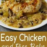 Receta fácil para hornear pollo y arroz para dos