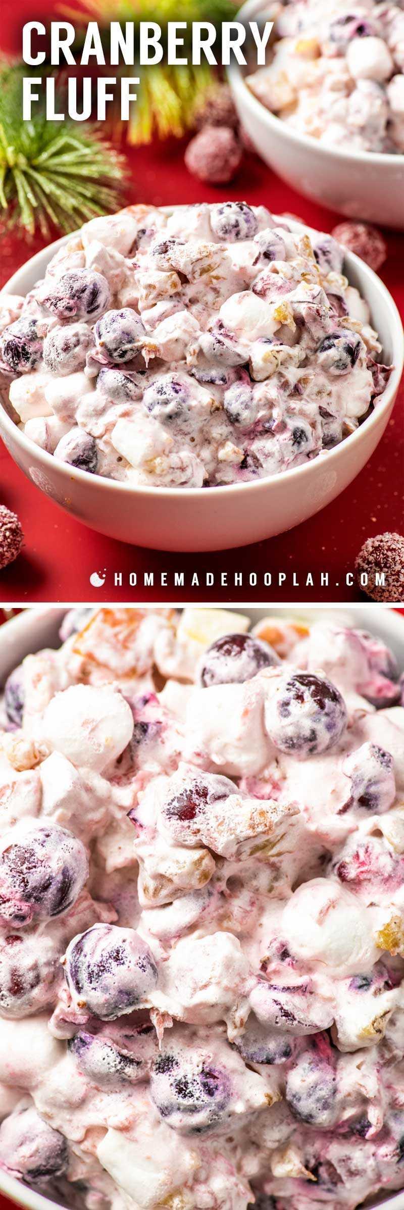 "Receta simple de ensalada de pelusa de arándano. ""Ancho ="" 800 ""altura ="" 2396 ""data-pin-description ="" ¡Pelusa de arándano! Esta ensalada de pelusa de arándano es un acompañamiento o postre de clima frío que combina arándanos agrios, piña dulce y manzanas frescas con crema suave y nueces. El | HomemadeHooplah.com ""srcset ="" https://homemadehooplah.com/wp-content/uploads/2019/01/cranberry-fluff-salad-pinterest.jpg 800w, https://homemadehooplah.com/wp-content/uploads/ 2019/01 / cranberry-fluff-salad-pinterest-400x1198.jpg 400w, https://homemadehooplah.com/wp-content/uploads/2019/01/cranberry-fluff-salad-pinterest-768x2300.jpg 768w ""tamaños = ""(ancho máximo: 800px) 100vw, 800px"