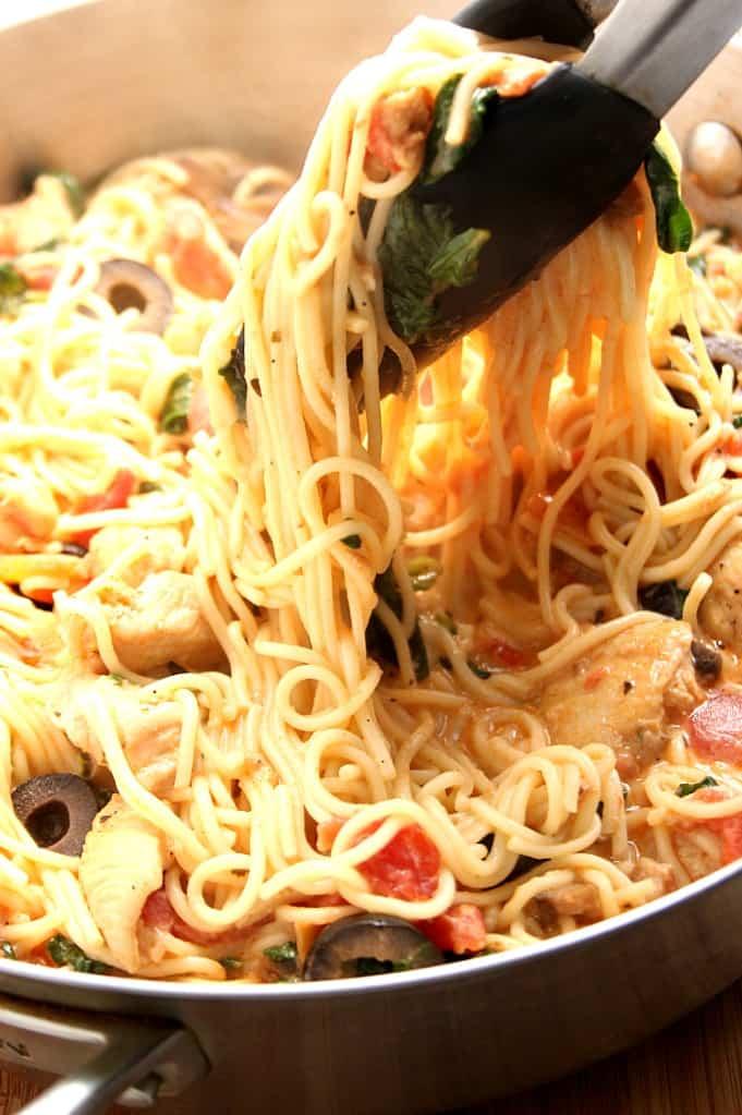 pasta toscana 3 Receta de pasta italiana cremosa con pollo