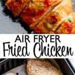 imagen de pin de pollo frito air fryer