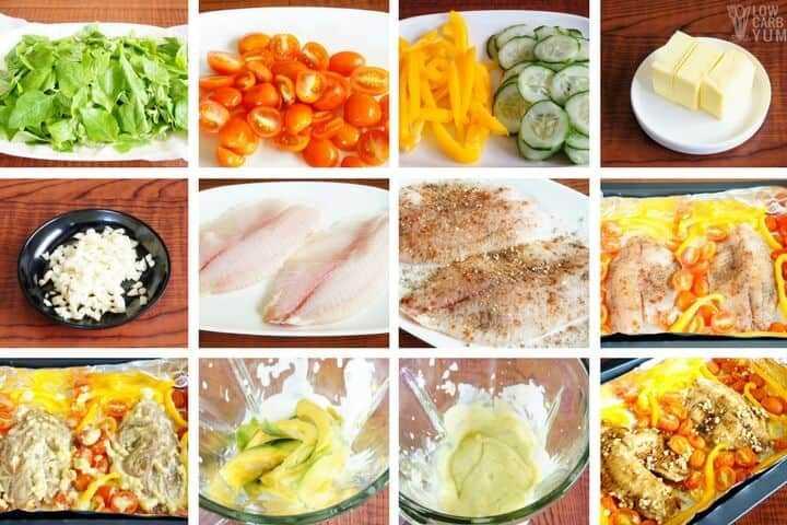 Cómo hacer una receta de ensalada de tilapia con aderezo cremoso de aguacate