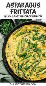 Imagen de Pinterest para una receta de frittata de espárragos.