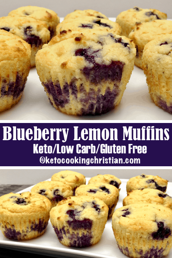 Lemon and blueberry muffins: keto-free, low-carb, and gluten-free
