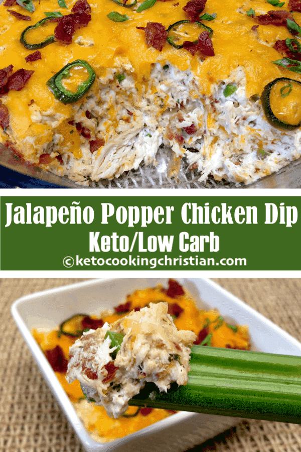 Dip de Pollo Jalapeño Popper - Keto y Bajo en Carbohidratos