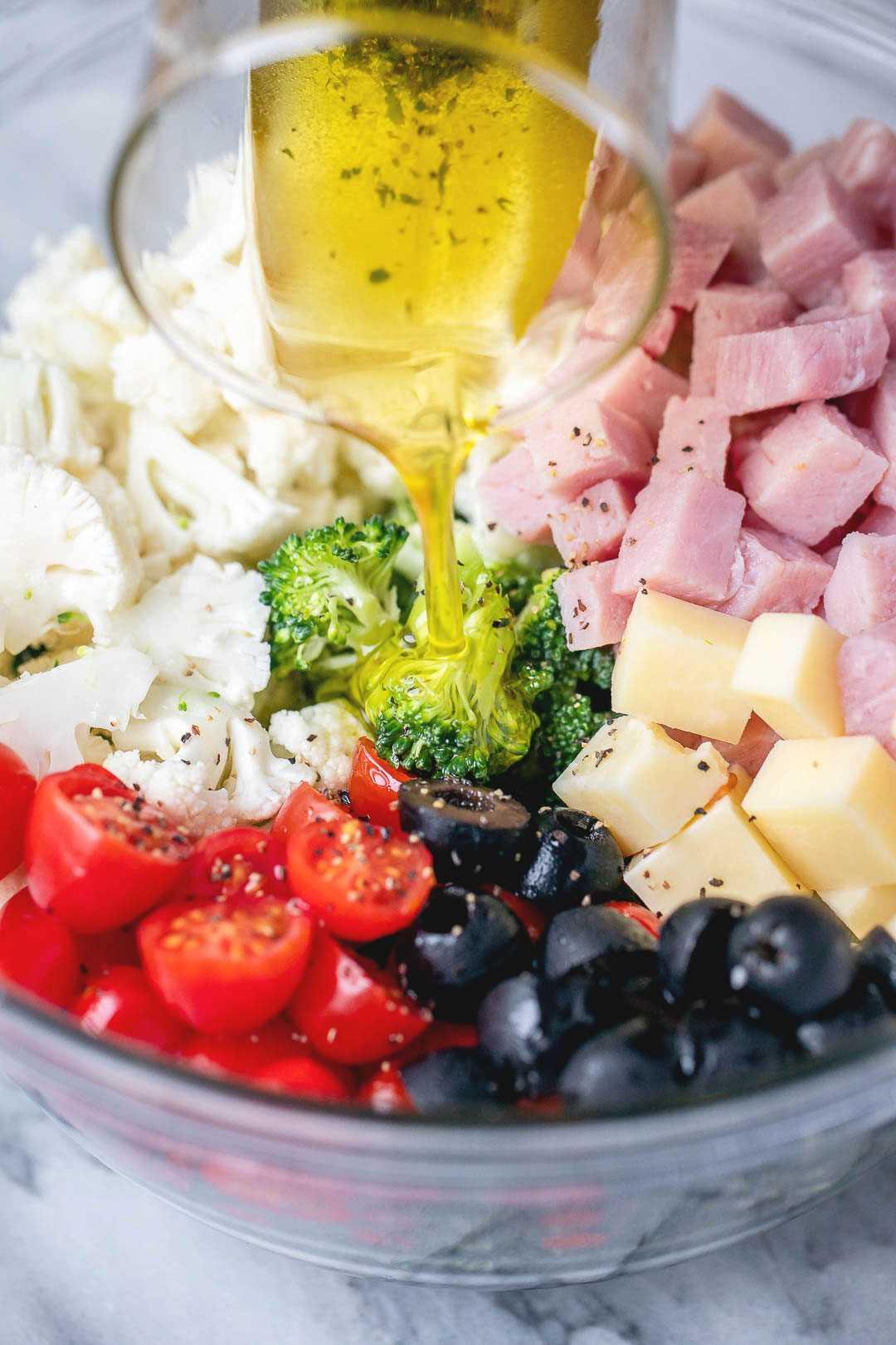 Receta de ensalada de brócoli y coliflor