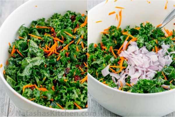 Esta ensalada de col rizada es una ensalada VERDE preparada y es igual de buena al día siguiente (¡perfecta para fiestas!). Muy saludable y delicioso. ¡Harás esta ensalada de col rizada una y otra vez!